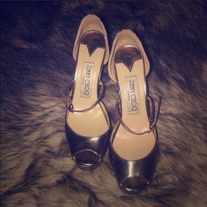 Jimmy Choo metallic heels